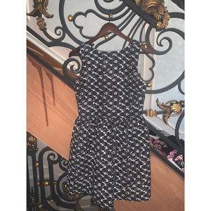 Black sleeveless dress AQUA size M